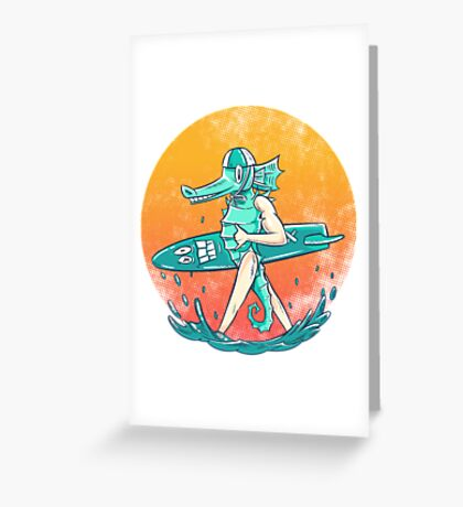 Gnarly Seashorse Greeting Card
