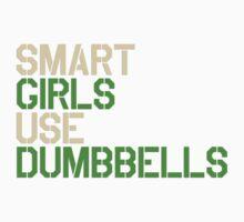 Smart Girls Use Dumbbells (crm/grn) Kids Clothes