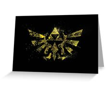The Golden Power - Triforce Greeting Card