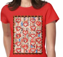 Cool patchwork country style gifts  Womens Fitted T-Shirt