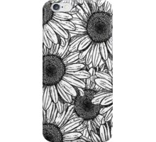 flowers black & white iPhone Case/Skin