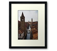 Red Rooftops of Venice  Framed Print