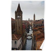Red Rooftops of Venice  Poster