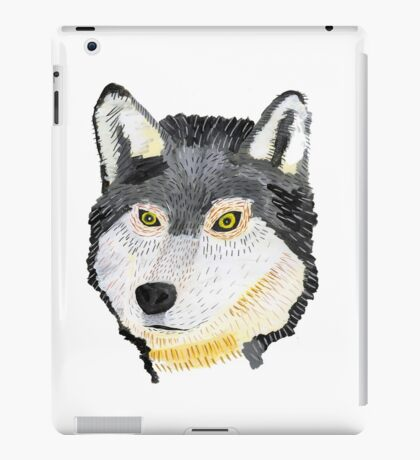 Pencil Wolf iPad Case/Skin