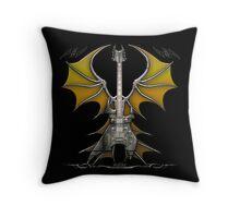 Death Metal Guitar Throw Pillow