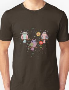 Cute owl and flowers 2  T-Shirt