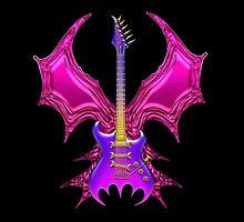 Gothic Bat Guitar by Bluesax