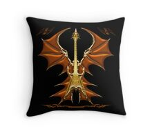 Dark Angel Heavy Guitar Throw Pillow