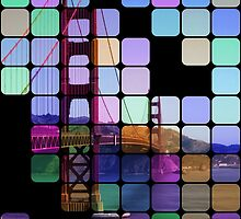 Golden Gate Bridge Modern Art by Florian Rodarte