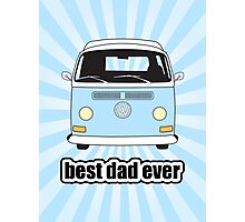 Best Dad Ever Pale Blue Sunburst Early Bay Photographic Print