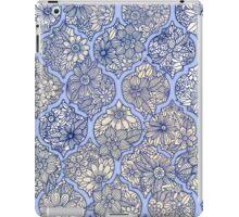 Moroccan Floral Lattice Arrangement - purple iPad Case/Skin