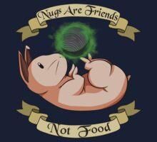 Nugs Are Friends, Not Food Kids Tee