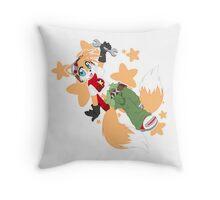 Tails Remix Throw Pillow