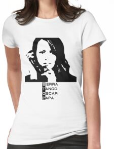 Root Person of interest STOP Womens Fitted T-Shirt