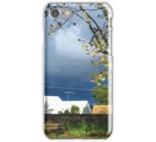 Blue and White House Framed by Trees iPhone Case/Skin