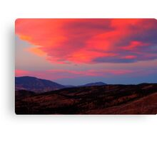 Lenticular Clouds over Lost Creek Wilderness, CO Canvas Print