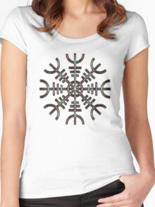 Aegishjalmur / Helm of Awe - THE SEA 2 Women's Fitted Scoop T-Shirt