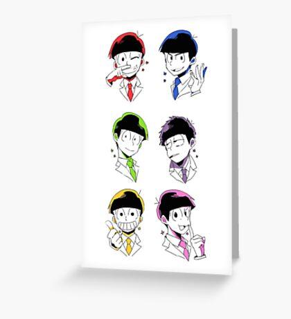 Osomatsu-san Brothers 2 Greeting Card