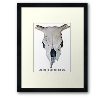 Old Cow Skull tee Framed Print