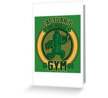 Cactuar´s Gym Greeting Card