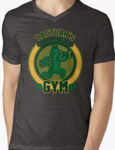 Cactuar´s Gym Mens V-Neck T-Shirt
