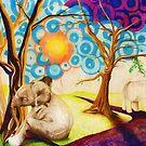 Psychedelic Elephants by Shawna Rowe