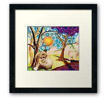 Psychedelic Elephants Framed Print