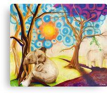 Psychedelic Elephants Metal Print