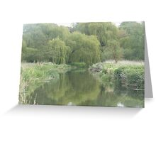 River with willow trees Greeting Card