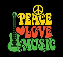 Reggae Peace-Love-Music by Lisann