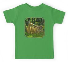 First Spring - Whitetail Deer Painting Kids Tee