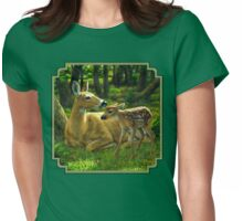 First Spring - Whitetail Deer Painting Womens Fitted T-Shirt
