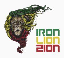 Reggae Rasta Iron, Lion, Zion 3 One Piece - Long Sleeve