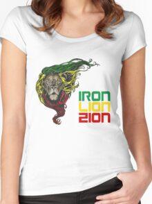 Reggae Rasta Iron, Lion, Zion 3 Women's Fitted Scoop T-Shirt
