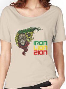 Reggae Rasta Iron, Lion, Zion 3 Women's Relaxed Fit T-Shirt