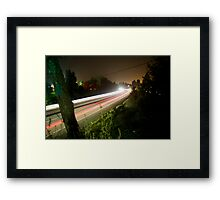 Freeway Streaks Framed Print