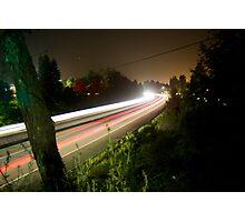 Freeway Streaks Photographic Print
