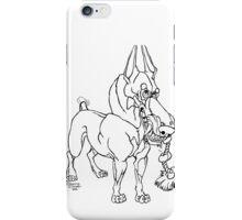 Doberman Pinscher Caricature Playful Dog Art iPhone Case/Skin