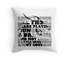 Dungeons & Dragons and Courage Throw Pillow