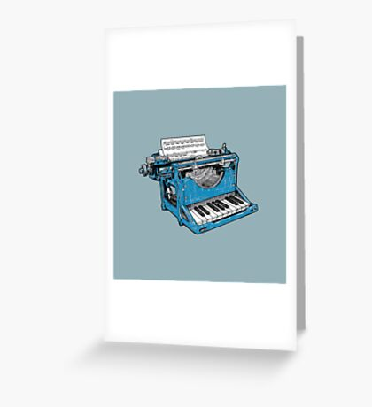 The Composition - O. Greeting Card