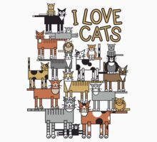 I Love Cats_For All Colors T-Shirt