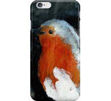 Robin Red Breast Wild Bird Acrylic Painting iPhone Case/Skin