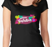 Happy Valentine! Women's Fitted Scoop T-Shirt