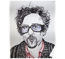 Tim Burton pen portrait  Poster