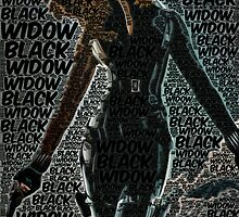 Captain America: The Winter Soldier, Black Widow Poster with text by Colin Bradley