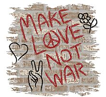 Make Love Not War Photographic Print