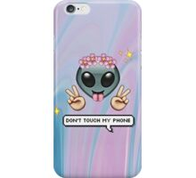 dont touch my phone iPhone Case/Skin