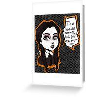 Wednesday Addams  Greeting Card