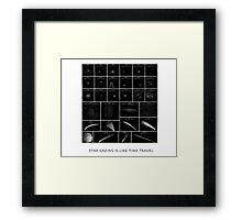 StarGazing is like time travel Framed Print