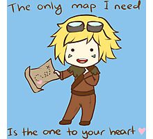 The only map I need is the one to your heart! - League Of Legends Photographic Print